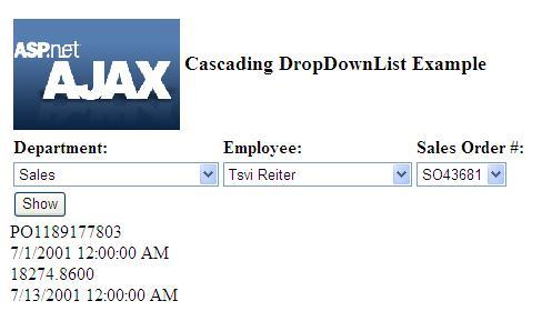 Cascading DropDownList with Asp  Net Ajax | Enlighten